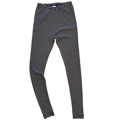 HERMKO 1672005 warme Damen Thermo-Leggings in Ringel-Optik, Größe:40/42 (M), Farbe:Marine Ringel