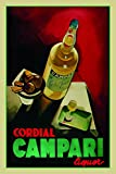 Campari cordial liquor schild auch blech, metal sign, deko schild,