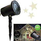 Bada Bing LED Stern Projektor Hauswand Beleuchtung Stars Projektionslampe Rotierende Lichteffekte Für Partys Garten Haus Licht Weihnachten Deko IP44 11 Für Innen und Außen