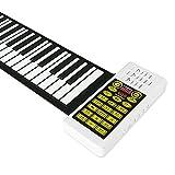 Flessibile Portatile Tastiera 88 Chiavi elettroniche a Mano arrotolando Piano Built-in 2200mAh Li-on della Batteria, Grand Piano, Piano Keys ispessite, Bluetooth, Sleep Automatica