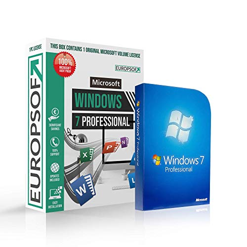 Microsoft® Windows 7 Professional (PRO) DVD mit original Lizenz. Europsoft Box. Papiere & Zertifikate. Alle Sprachen 32 & 64bit (Pro-software Win 7)