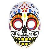 Hommes Mexicain Day Of The Dead Tête De Mort Calavera Masque - Blanc