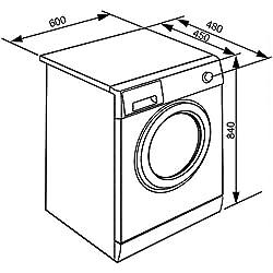 Smeg WHT712LCIT Libera installazione Carica frontale 7kg 1200Giri/min A+++ Bianco lavatrice