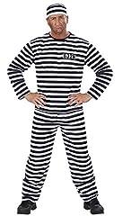 Idea Regalo - WIDMANN Costume da Carcerato taglia M 39092