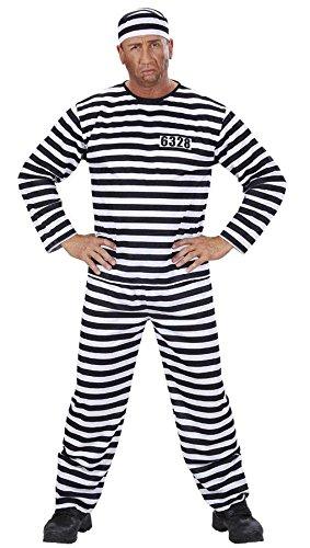 Widmann 39093 Erwachsenenkostüm Sträfling, 52 (Kostüm Gefangener Halloween)