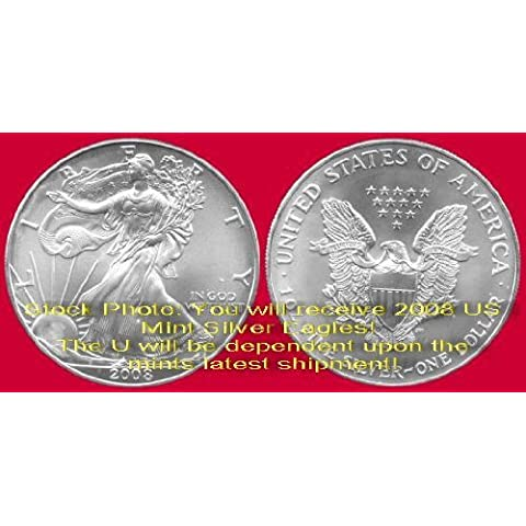 2008 Us Mint American Silver Eagle $1 Dollar Unc Coin by Twin City Gold