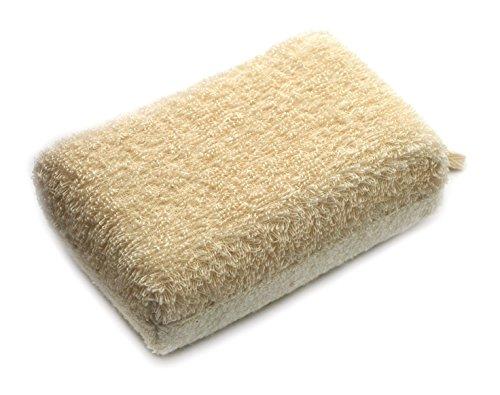Basicare Eponge de Bain/Sisal/Tissu Eponge 15 x 10 x 5 cm