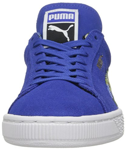 Puma-Suede Classic Flourish WNS Dazzling Blue/White