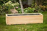 Larisa Blumentopf, Blumenkasten, Pflanzkasten auf Holz ! HIT 40 bis 120 cm !!! (80x40x30,5)