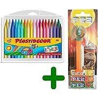 Bic Kids BIC Material Escolar para Niños Plastidecor (36 Colores) & PEZ Jurassic World