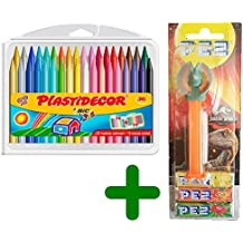 Bic Kids BIC Material Escolar para Niños Plastidecor (36 Colores) & PEZ Jurassic World