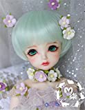 Tita-Doremi BJD bambola parrucca Ball-jointed Doll 1/3 8-9 Inch 22-24cm Dollfie Pullip SD DOD DD Green Toy Head parrucca Hair (Solo La Parrucca,Non Una Bambola)