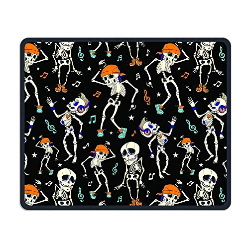 Dancing Skeletons Party Halloween Comfortable Rectangle Rubber Base Mousepad Gaming Mouse Pad (18 Halloween-partys Dc)
