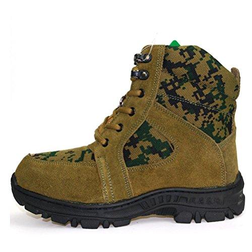 QPYC Gli uomini tengono al caldo antiscivolo Strap anteriore Stivali da neve Scarpe in cotone Alpinismo sul piede Turismo negli stivali tubo army green
