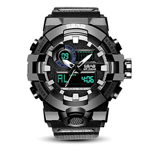2eacbff562c0 HWCOO SBAO Uhren Elektronische Uhr Studenten Sportuhr Paar große  Zifferblatt Quarzuhr (Color   3)