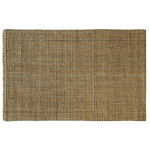 Tappeto naturale juta - intrecciato a mano - tappeto fibra naturale lavorata bouclé in 4 colori tinta unita - varie misure - 200x300 cm - naturale