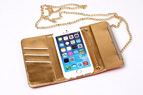"inShang iPhone 6 iPhone 6S Coque 4.7"" (Both 2014 Sep and 2015 Sep Release) Housse de Protection Etui pour Apple iPhone 6 iPhone 6S 4.7 Inch, le style sac a main, Cuir PU de premiere qualite, + Qualite handbag gold"