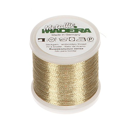 Gold-metallic-thread (Madeira Metallic No. 40 200m gold-3, gold-3)