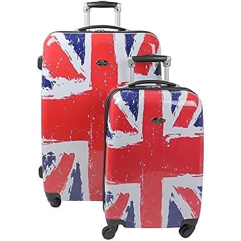 Swiss Case - Juego de maletas de 4 ruedas, diseño con la bandera británica
