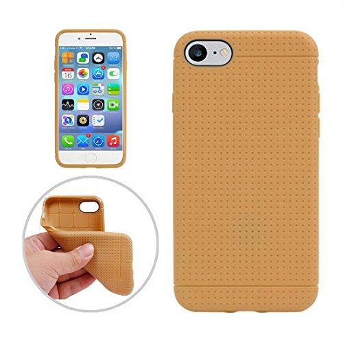 GUTER KASTEN- Für iPhone 7 Honeycomb Texture Soft TPU Schutzhülle (Color : Gold) - Honeycomb Seide