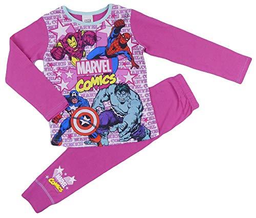 Mädchen Pyjamas Dc Super Hero Mädchen Wonder Woman Super Girl 4-5 to 9-10 Years - Pink Marvel Comics, 134-140