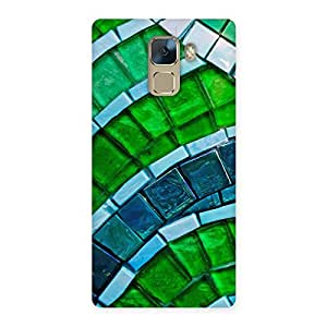 Greenish Pattern Back Case Cover for Huawei Honor 7