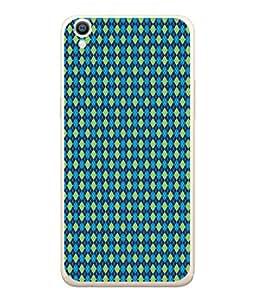 PrintVisa Designer Back Case Cover for Oppo A37 (Classy Blue Green Diamond Design)