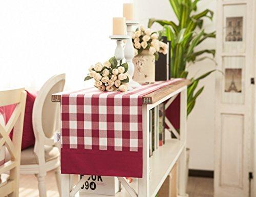 ZCJB Chemin de table Double Table Runner Lit Drapeau Table Tissu Maison Tissu Cerise Rouge Tableau Drapeau (taille : 33*200cm)
