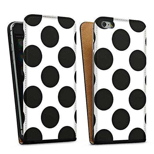 Apple iPhone SE Housse Outdoor Étui militaire Coque Points Pois Rockabilly Sac Downflip noir