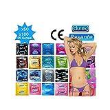 Packung gemischter Kondome - 25 Sorten Durex & Pasante - Massengut - 100er Vorteilspack