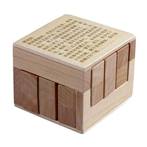 Preisvergleich Produktbild KINGOU Sehr Schwierigen Chinesischen 3D Holz Puzzle Verzahnt Magic Cube Puzzle Geistiges Spielzeug
