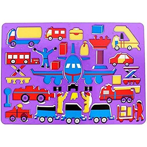 Pampy - Plantilla violeta de plástico infantil