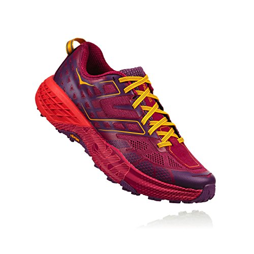Hoka One One Speedgoat 2 Woman Shoes Running, Red (Cherriesjubilee/purplepas) 40 EU