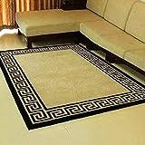 LZHDAR Modern Simple Living Room Rug, Polypropylene European Carpet extrem strapazierfähig, einfach zu reinigen Badezimmer Tische Schlafzimmer Wohnzimmer,Green,1200MM*1700MM
