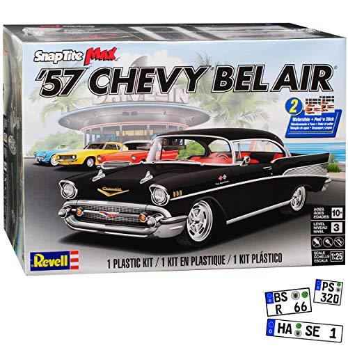 Chevrolet Chevy Bel Air Serie 2400C Coupe Schwarz 1. Generation 1953-1957 Bausatz Kit 1/25 1/24 Revell Monogram Modell Auto