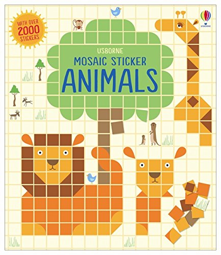 Mosaic Sticker Animals (Mosaic Sticker Books)