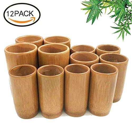 ZYJFP 12PCS Schröpfen Gesetzt, Vakuum Natürliche Bambus-Massage-Cup, Chinesische Therapie Zu Müdigkeit Gewichtsverlust Schröpfen Mit Werkzeugen Eingestellt