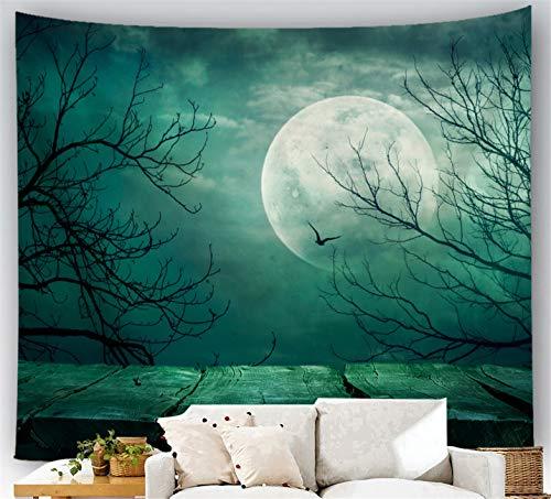 Comeyang Arazzo Mandala, Hippy Bohémien arazzo da Parete Psichedelico,Teli copritutto arredo, Tapestry Mandala intricato,Tessuto Decorativo Stampa Halloween 8 150X100cm