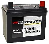 Langzeit Batterie 35Ah 12V Rasentraktor Starterbatterie Aufsitzmäher Rasenmäher Plus Pol RECHTS statt 26Ah 30Ah 32Ah
