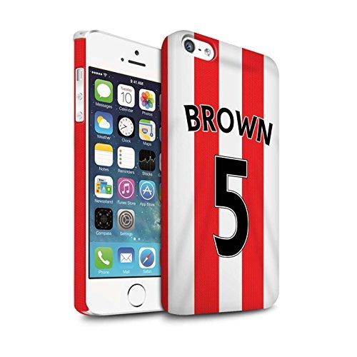 Offiziell Sunderland AFC Hülle / Matte Snap-On Case für Apple iPhone 5/5S / Yedlin Muster / SAFC Trikot Home 15/16 Kollektion Brown