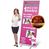 ROLL UP IMPRESION INCLUÍDA (85x200) FLM Low Budget| Roll Banner | Banner Display | Feria atril | Banner | pantalla Banner | Online diseñar | Feria B