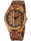 EASTPOLE Herren Business Armbanduhren 100% Natürlich Holz Analog Quarzwerk Holz Uhr