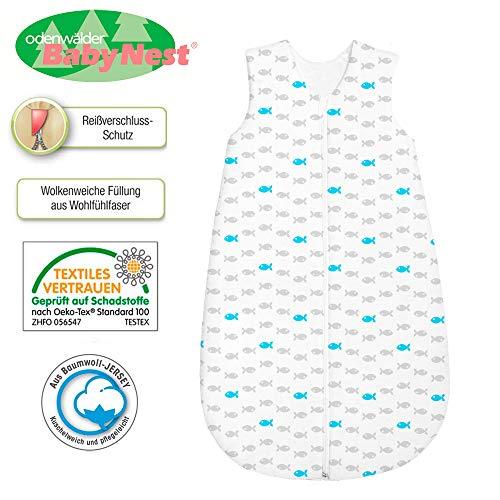 Baby Nice bei Odenwälder wattierter Schlafsack 130 cm Blau - Basic-Schlafsäcke zum Knallerpreis!