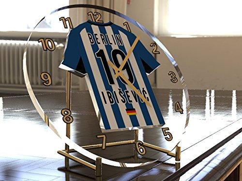 Bundesliga Fußball-Uhrim Trikot-Design –personalisierbar Hertha Berlin BSC