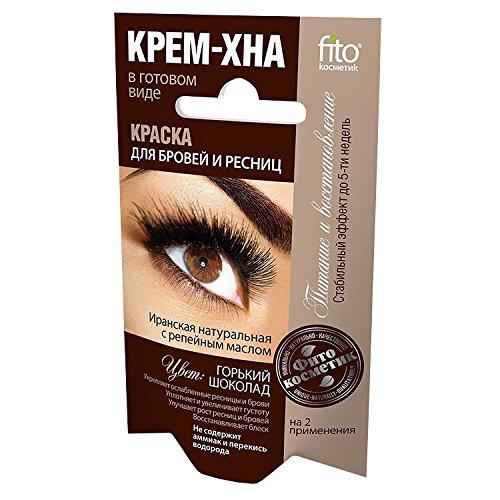 fitocosmetic Wimpern- und Augenbrauenfarbe Henna Creme Farbton: Dunkle Schokolade