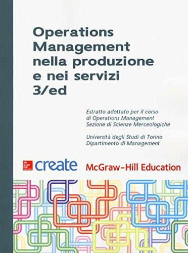 Operations management nella produzione e nei servizi