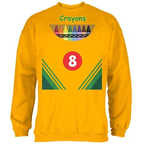 Buntstift Box Kostüm Mens Sweatshirt Gold 2XL (Man In Box Halloween Kostüm)