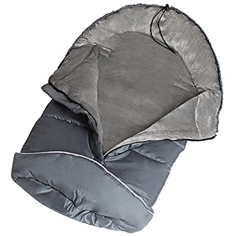 TecTake Universal fit thermo winter footmuff pram child baby car seat sleeping bag cosy toes gray