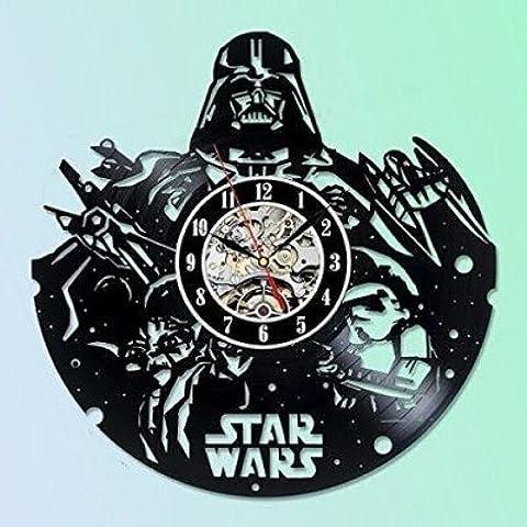 Star Wars Collectables Vinyl Record–Reloj de pared Decora tu hogar con arte grande de Darth Vader, Stormtrooper y Yoda moderno–Mejor regalo para amigo, Hombre y Boy–Win un premio para