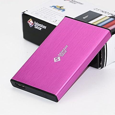 MasterStor 1 an garantie 160 Go disque dur Portable USB 3.0 disque dur ultra rapide pour Windows, Mac Book et Mac disque dur externe lecteur portable rose (160GB)